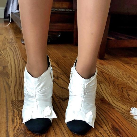 CHANEL Shoes | Chanel Whiteblack Satin